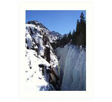 The Ice Canyon Art Print
