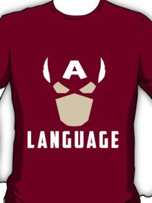 Captain America Language T-Shirt