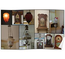 Lamps and Clocks at the Berry House Poster