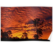 Sunset over Rural Australia. Poster