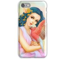 Blue haired elf and her galah iPhone Case/Skin