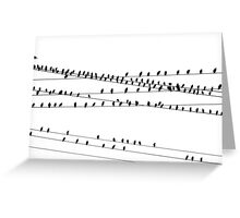 """Like a Bird on a Wire"" Greeting Card"