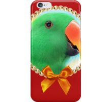 Green male eclectus parrot realistic painting iPhone Case/Skin