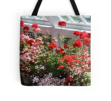 Geraniums in the glasshouse Tote Bag