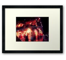 the night covered itself in red lace Framed Print