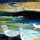 Silver Gulls - Australia by Margaret Morgan (Watkins)