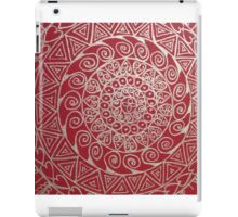 Mandala red and silver iPad Case/Skin