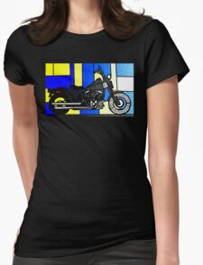 harley glass 2 Womens Fitted T-Shirt
