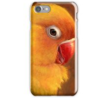 Fischer lovebird realistic painting iPhone Case/Skin