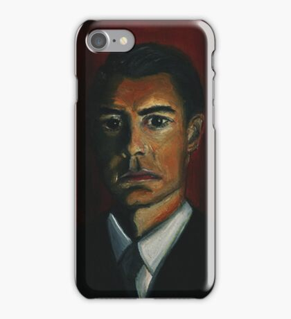 'BLACK AS MIDNIGHT ON A MOONLESS NIGHT' - from 'The Peaks' range iPhone Case/Skin