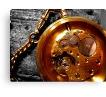 Time piece and suede Canvas Print