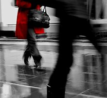 Red Jacket- Melbourne city by Molly Cusack