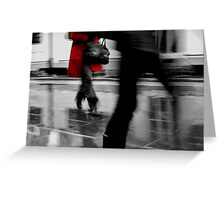 Red Jacket- Melbourne city Greeting Card