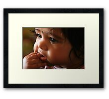 Food for thought Framed Print