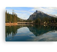 Banff reflection Canvas Print