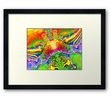 Psychedelic World Framed Print