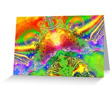 Psychedelic World Greeting Card