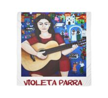 "Violeta Parra  and the song ""Black wedding""  Scarf"