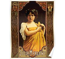 Poster 1890s Julia Marlowe Broadway poster 1899 Poster