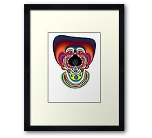 Clown Fractal Framed Print