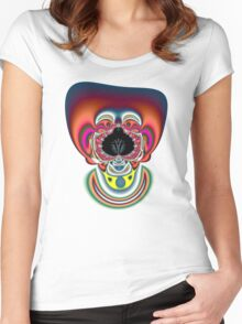 Clown Fractal Women's Fitted Scoop T-Shirt