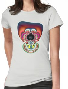 Clown Fractal Womens Fitted T-Shirt