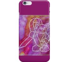 Watercolor Cancer Awareness Bear iPhone Case/Skin