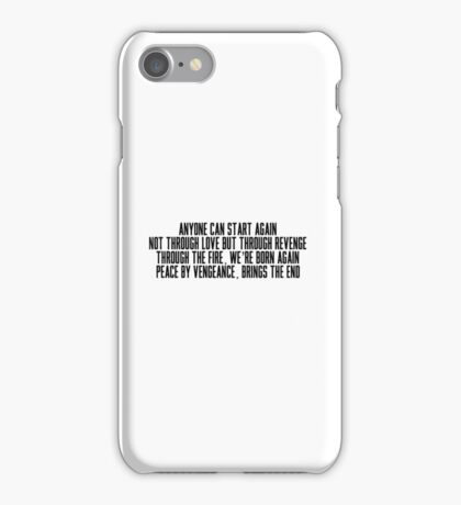 Anyone Can Start Again iPhone Case/Skin