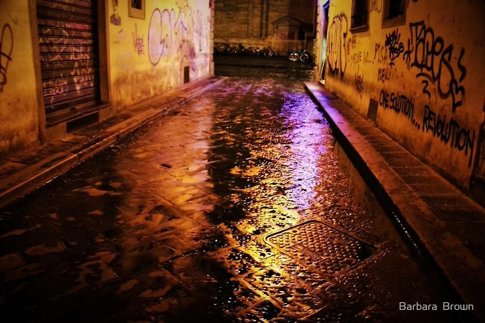 Back Streets at Night by Barbara  Brown