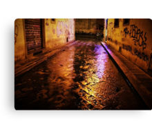 Back Streets at Night Canvas Print