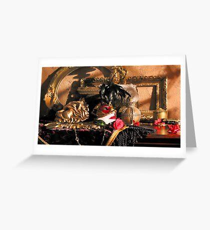 Romantica Noir Greeting Card