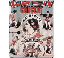 Posters 1880s EdenConcert1881 iPad Case/Skin