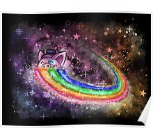 Sir Piggy Ridin' On A Rainbow Through Space Poster