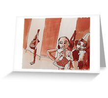 pinky joins the circus Greeting Card