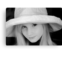 The Girl in the Hat Canvas Print