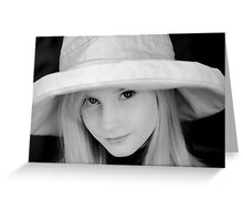 The Girl in the Hat Greeting Card