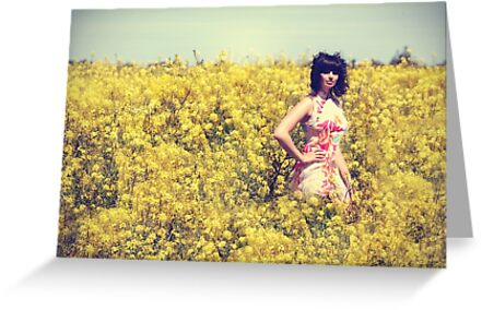 The beauty in yellow by Cathleen Tarawhiti