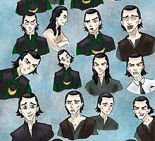 Loki faces by smirkyt