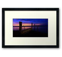 Barge,less Framed Print