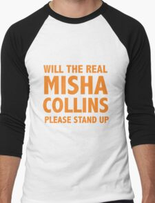 WILL THE REAL MISHA COLLINS PLEASE STAND UP Orange T-Shirt