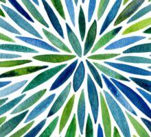 Watercolor Burst – Blue & Green Sticker