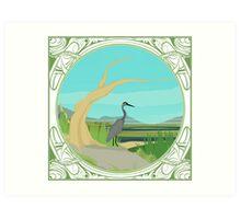 Heron Illustration Art Print