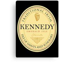 Irish Names Kennedy Canvas Print