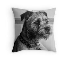 Dylan. Border Terrier Throw Pillow