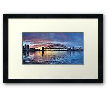 Colours Of Morning - Sydney Harbour, Sydney Australia Framed Print
