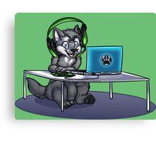 Little Gamer Wolf Canvas Print