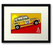 Renault 4 Sinpar Paris-Dakar Rally Framed Print