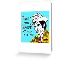 Townes van Zandt Pop Folk Art Greeting Card