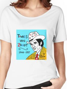 Townes van Zandt Pop Folk Art Women's Relaxed Fit T-Shirt