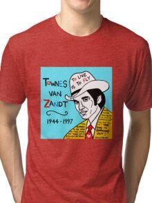 Townes van Zandt Pop Folk Art Tri-blend T-Shirt